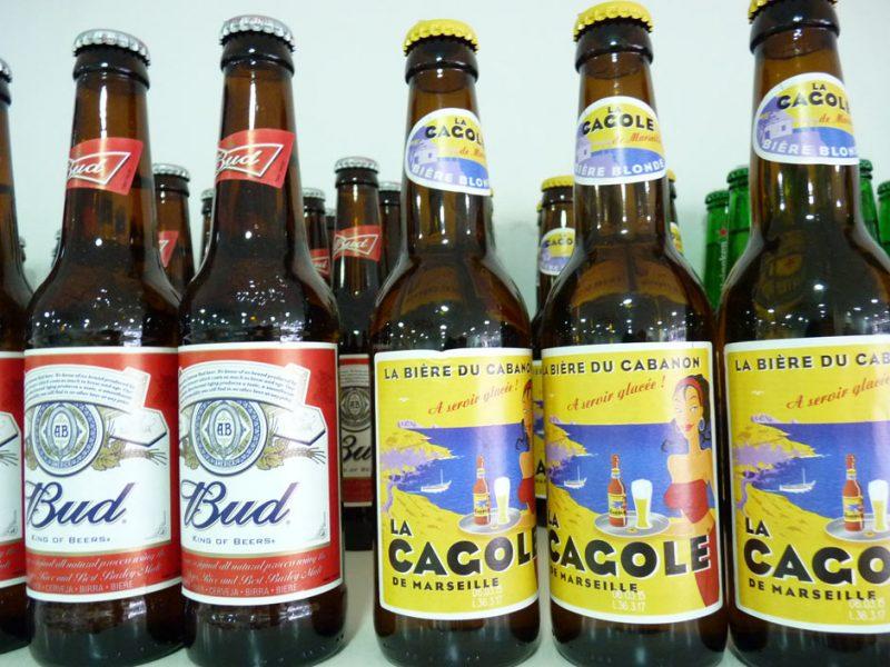 """Bières spéciales Bière BUD """"king of beers"""" et La Cagole, la bière du cabanon de Marseille"""