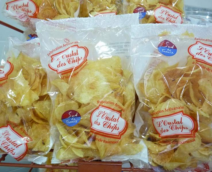 Chips artisanales L'Oustal des Chips. Label Sud de France.