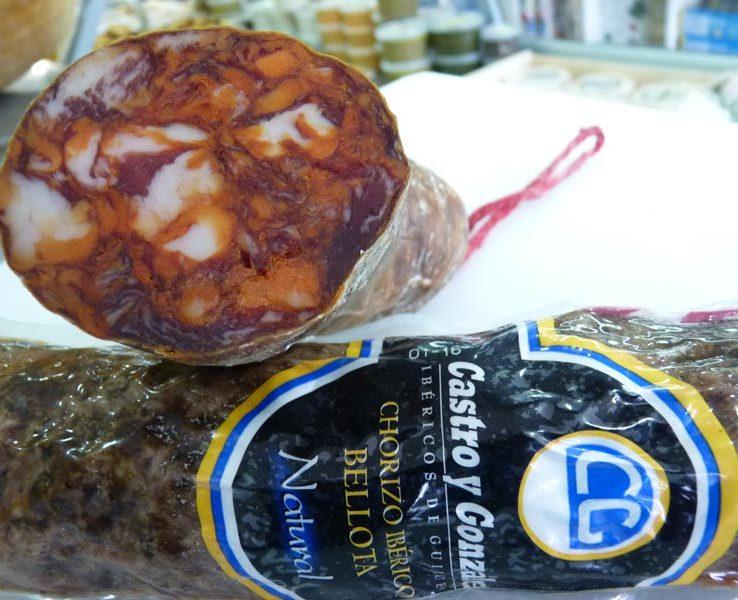 Chorizo ibérico de bellota, natural. Castro y Gonzales