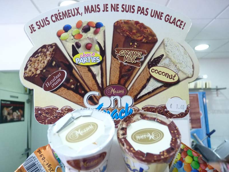 Messori Cioccolateria Cono Snacks, cornets crémeux Messori : hazelnut cream, choco parties, caramel milk, coconut...