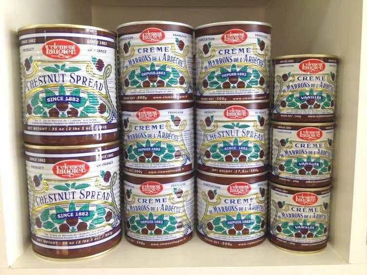 Crème de marrons de l'Ardèche, en boites, Clément Faugier à Privas depuis 1882