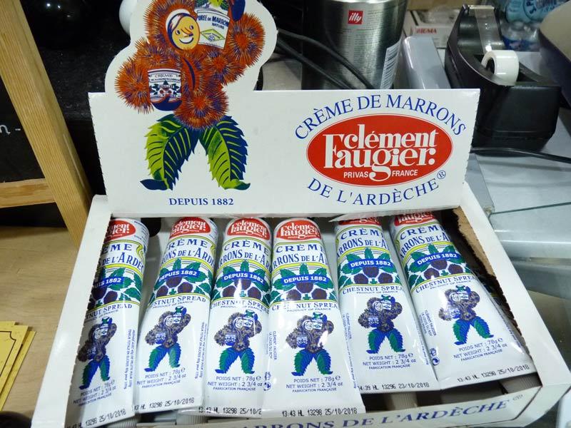 Crème de marrons de l'Ardèche, en tubes, Clément Faugier à Privas depuis 1882