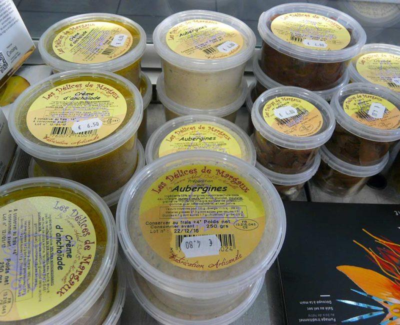 Les Délices de Margaux Aubergines, crème d'anchoïade, olivade, filets d'anchois