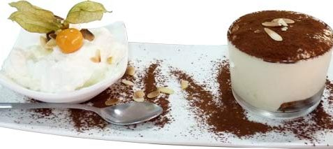Tiramisu et chantilly