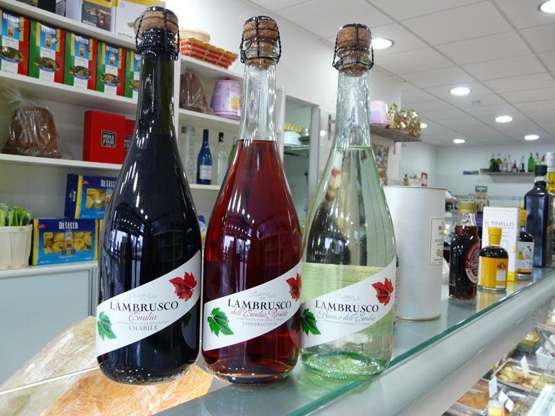 Lambrusco rouge, rosé et blanc