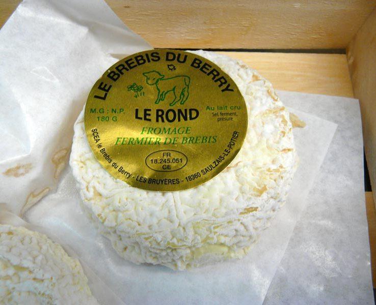 Le Rond, le Brebis du Berry Fromage fermier de brebis, au lait cru. SCEA le Brebis du Berry à 18360 Saulzais le Potier