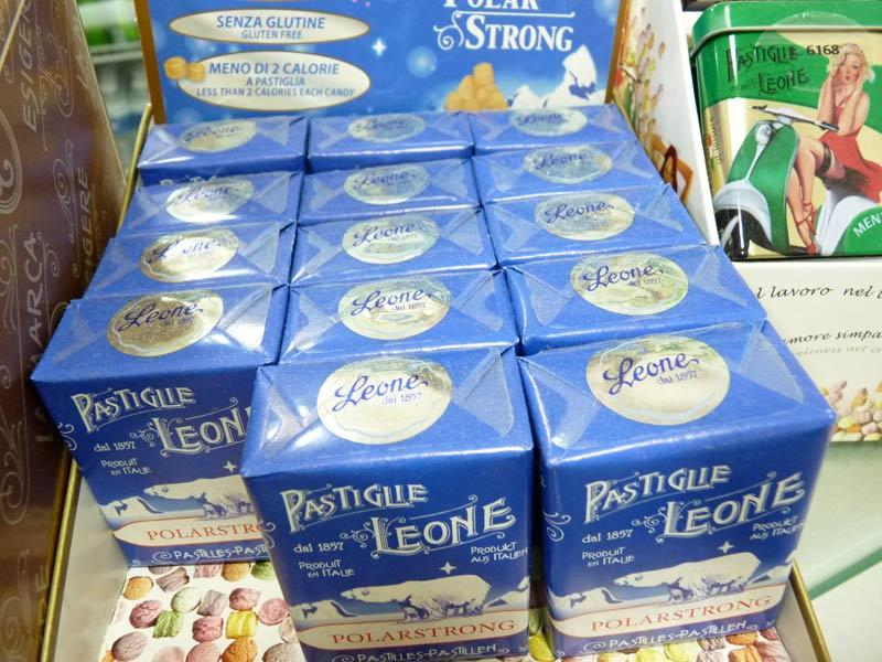 Pastilles Leone Produites en Italie depuis 1857. Polar strong