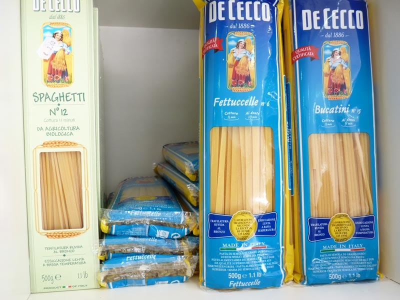 Spaghetti bio n°12, fettuccelle n°6, bucatini n°15
