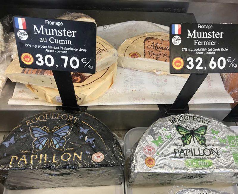 2 Munster AOP, au cumin et fermier/au lait cru de vache