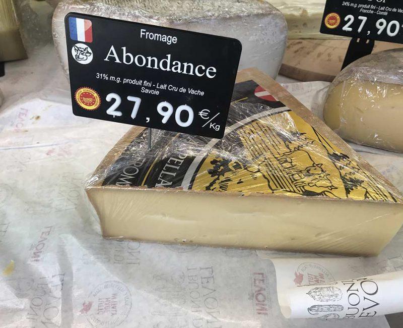 Abondance AOP. Au lait cru de vache, Savoie