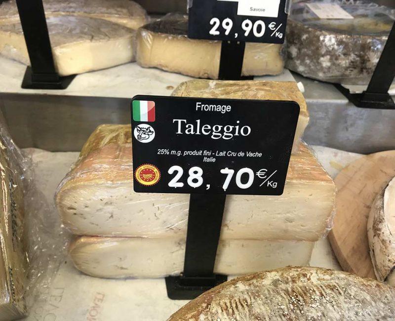 Taleggio au lait cru de vache. DOP (id AOP) Italie